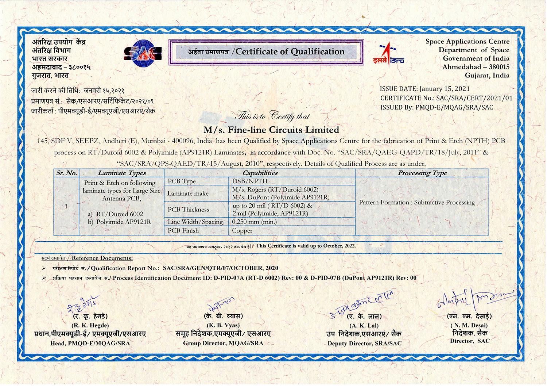 SAC SRA Certificate 2021 -AntennaPCB